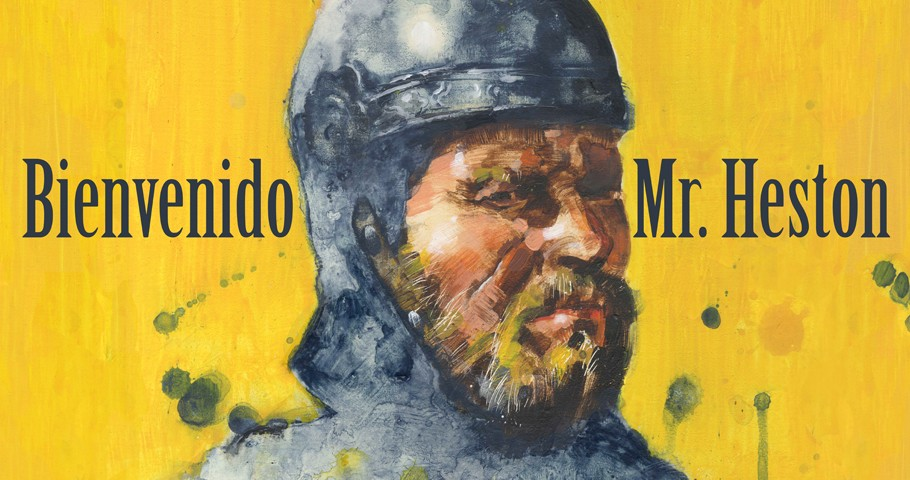 Julio Rey diseña el cartel de «Bienvenido Mr. Heston»