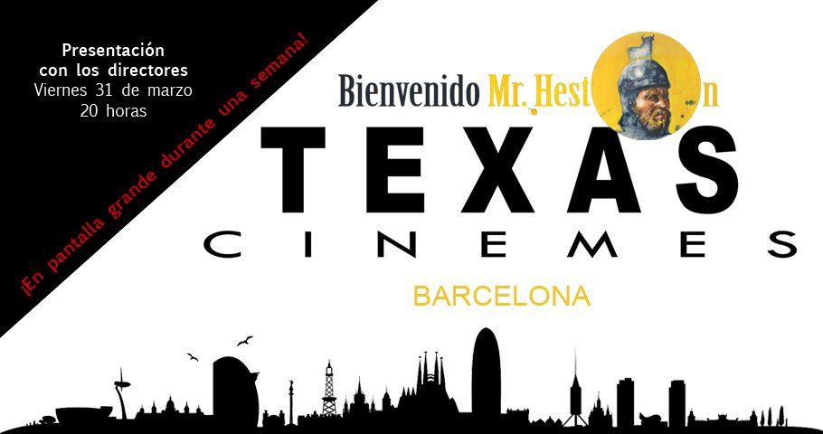 """""""Bienvenido Mr. Heston"""" se estrena en los cines Texas de Barcelona"""