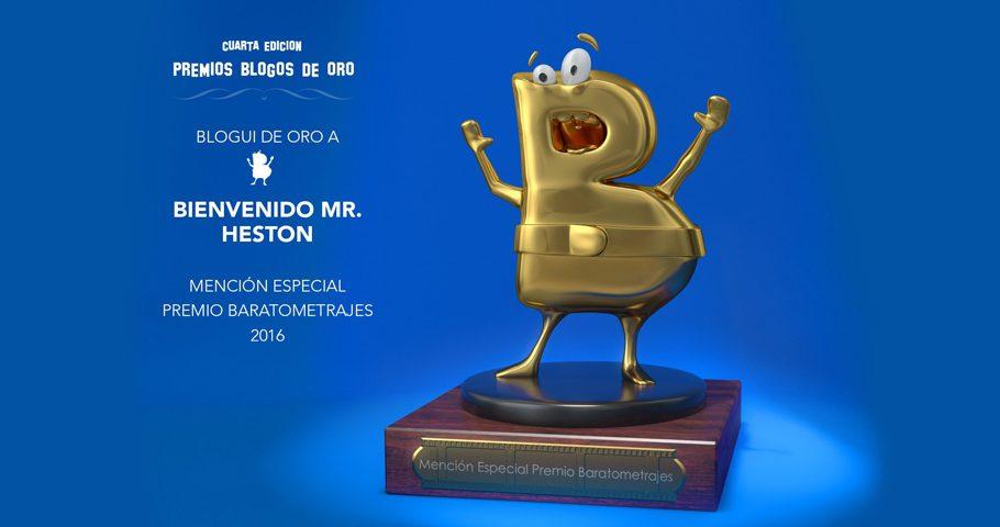 «Bienvenido Mr. Heston» obtiene Mención Especial en los Blogos de Oro